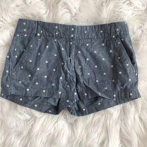 [J.Crew] Polka Dot Chambray Shorts